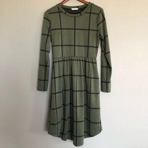 Reborn J Boutique Window Pane Midi Dress NWOT